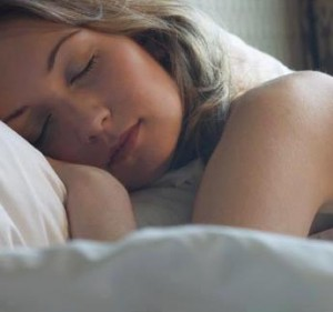 Picture of a lady sleeping