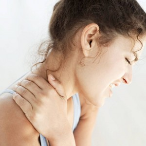 Picture of Lady with Neck Pain